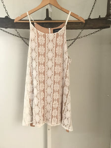 Mink Pink White Lace Dress Size 8