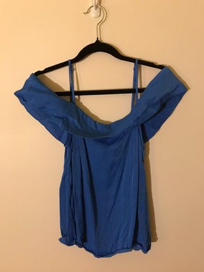 Bardot blue off the shoulder top Size 12
