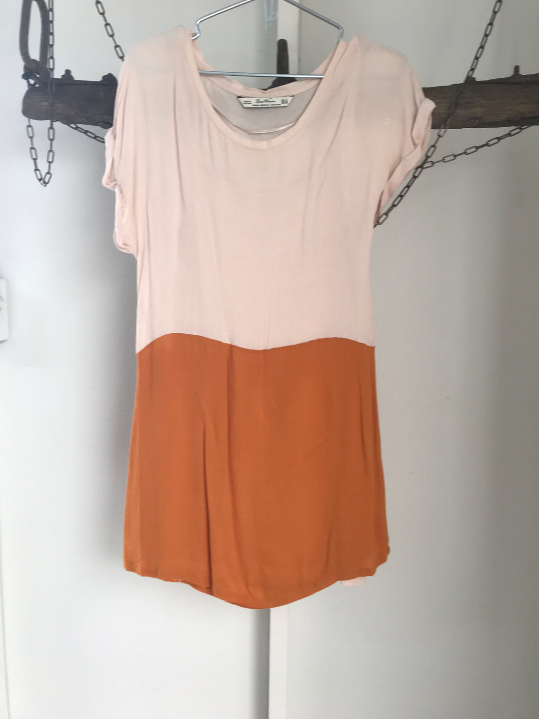 Zara Cream/Mustard Dress Size 10