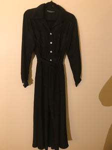 Merivale Black vintage collar and button dress with belt Size 10