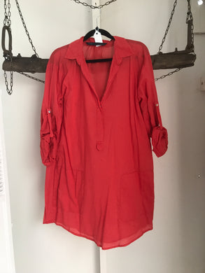 Zara Orange Shirt/Dress Size 12