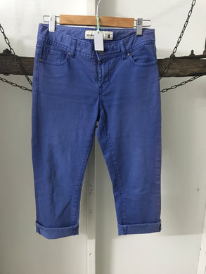 Just Jeans Blue 3/4 Capri Jeans Size 8