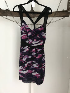 Bettina Liano Purple/Pink Strappy Dress Size 10
