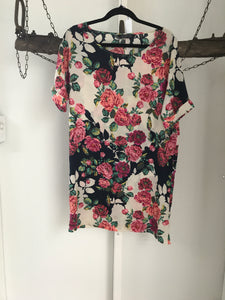 Glassons Pink Roses Dress Size 8