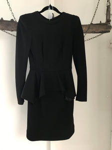 Sheike Black Peplum Dress Size 6