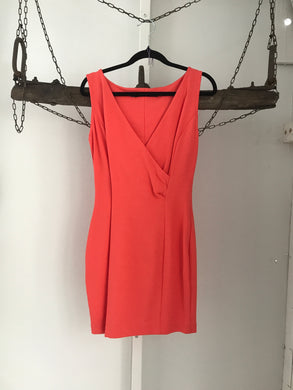 Zara Coral Cross Over Dress Size 12