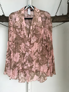 Eve Hunter Pink Floral Top Size 16
