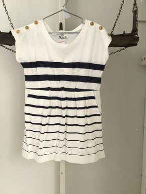 Ef Collection Navy/White Strip (nautical) Dress Size 12 NWT