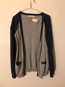 Atmos & Here blue/grey pocket cardigan Size 10