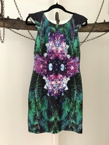 Jorge pink/purple/green kaleidoscope dress Size 12