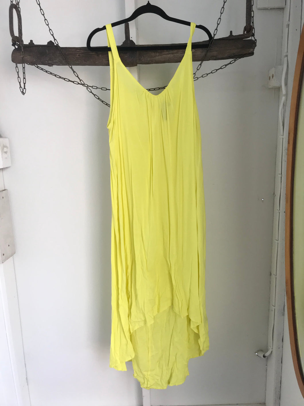Taking Shape yellow slip beach dress Size S (estimated 16)