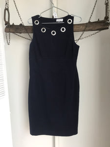 Queens park Navy Silver Rings Dress Size 12