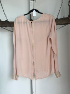 Harvey who Nude/gold Blouse Size 10