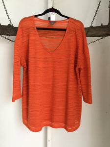 Katie's Orange Knit Top Size XL (14-16)