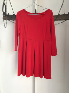 Free Fusion Red Long Sleeve Dress Size XL (16)