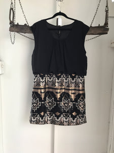 No Label Black/Sequin Skirt Dress Size XL (16)