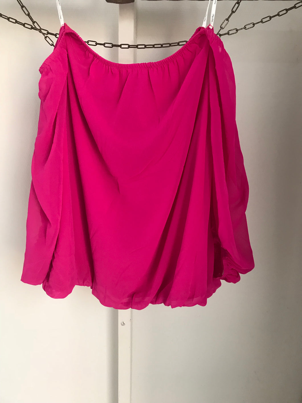 City Chic hot pink off the shoulder top Size S ( estimated size 16) NWT