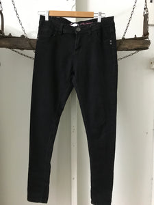 Super Skinny Black Straight Size 12