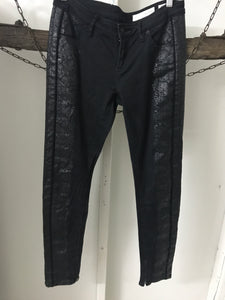 Sass N Bide Black Straight Shiny Jeans Size 29