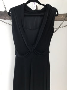 MNG Collection Black Cross Back Dress Size 8