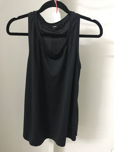 No Label Black Singlet Size L (10-12)