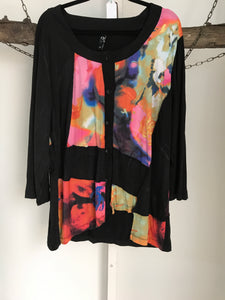 TS Multi Coloured Long Sleeve Top Size XS (14)