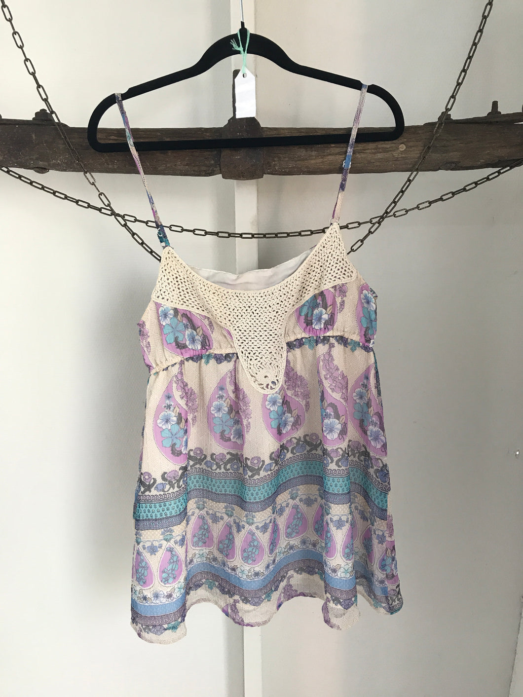 Roxy Floral Shoe String Top Size 8 (8-10)