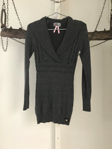 Lipsy Grey Knit Dress Size 8