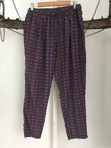 Dotti Pink/Purple Print Pants Size 12