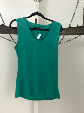 Peter Morrissey green sleeveless top Size 10