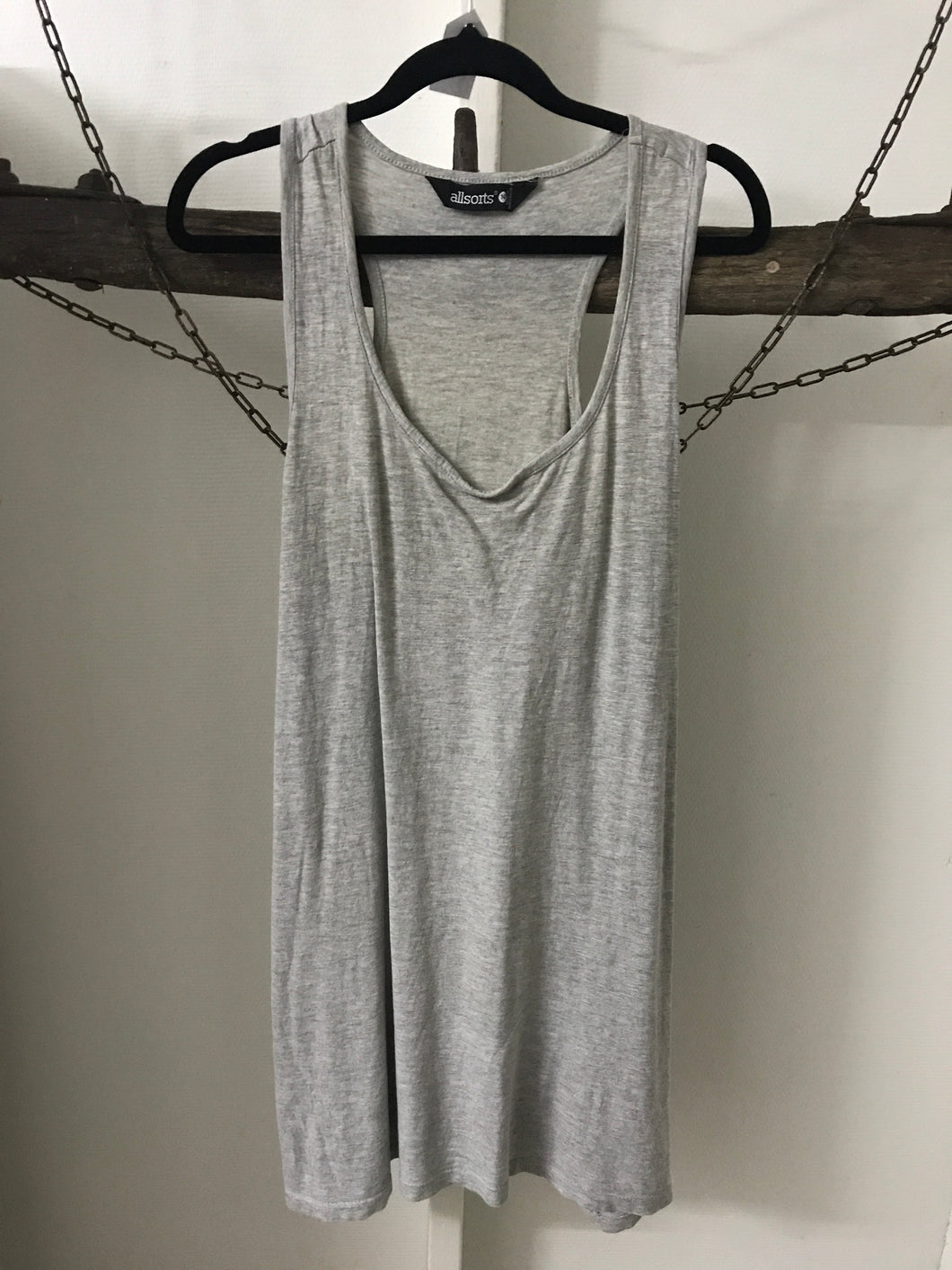 All Sorts Grey Singlet Size 14