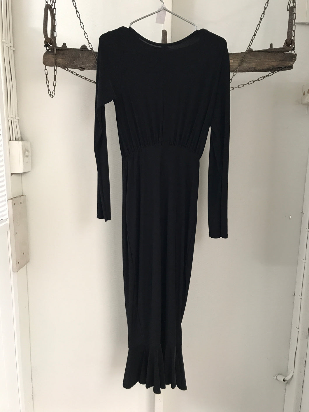 Boohoo Long Black Evening Dress Size 10