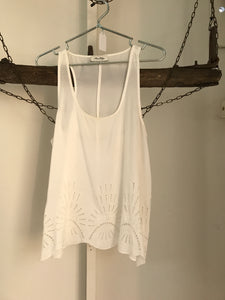 Miss Shop White Sleeveless Top Size 12