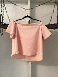 Boohoo pink over the shoulder top Size 12