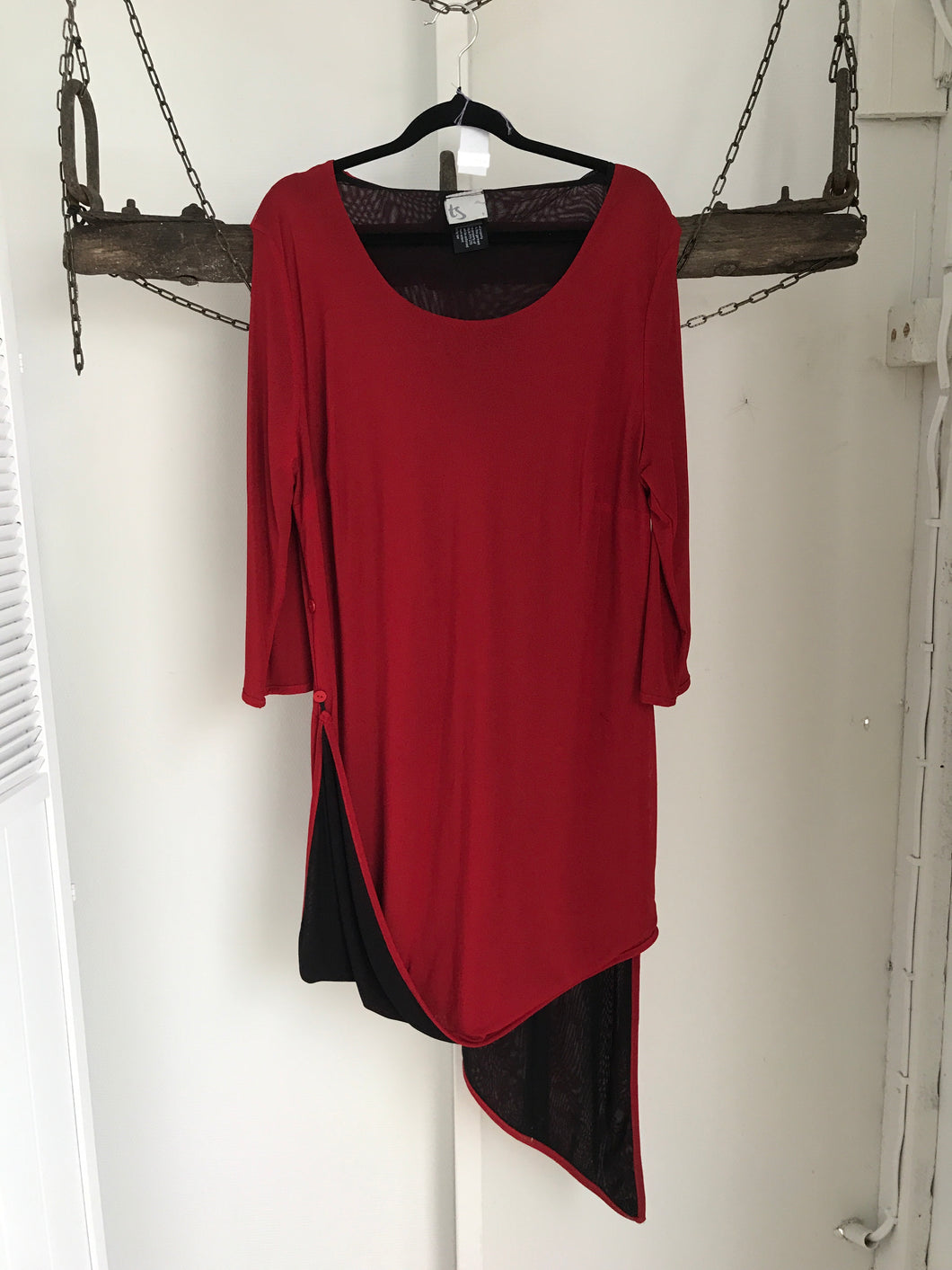 TS Red Black Top Size S (16)