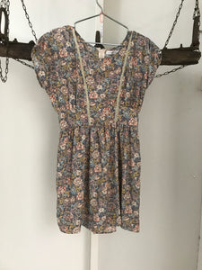 Quirky Circus Pink/blue Floral Dress Size 10