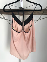 Bardot Pink/Black Shoestring Top Size 8
