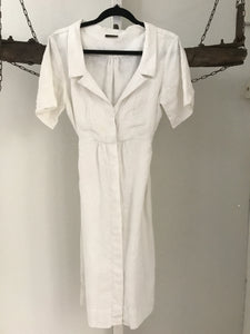 Carla Zampati White Collared Dress Size 12