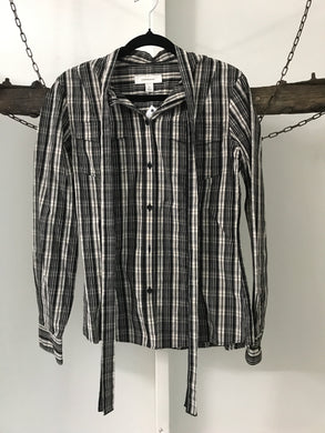 Country Road black and white check blouse Size XS (8)