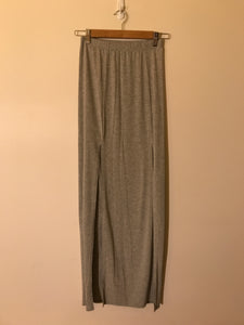 Boohoo long grey skirt Size 8 UK
