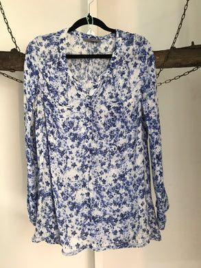Just Jeans Blue Floral Top Size 12