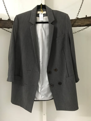 Seed Grey Double Breasted Jacket Size 8