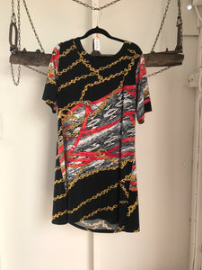 Cordelia St Black/Red Chains Dress Size 14