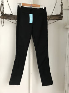 Kookai Black Lace Trim Pants Size 36 (6-8) NWT