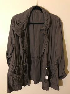 No label dark grey jacket Size 10-12 (estimate)