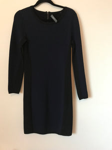 Marcs blue/black long sleeve work dress Size S(estimated 8)