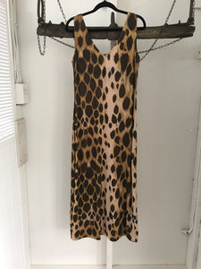 Charlie Brown Leopard Print Long Dress Size 10