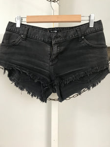 Rusty Black Denim Shorts Size 10