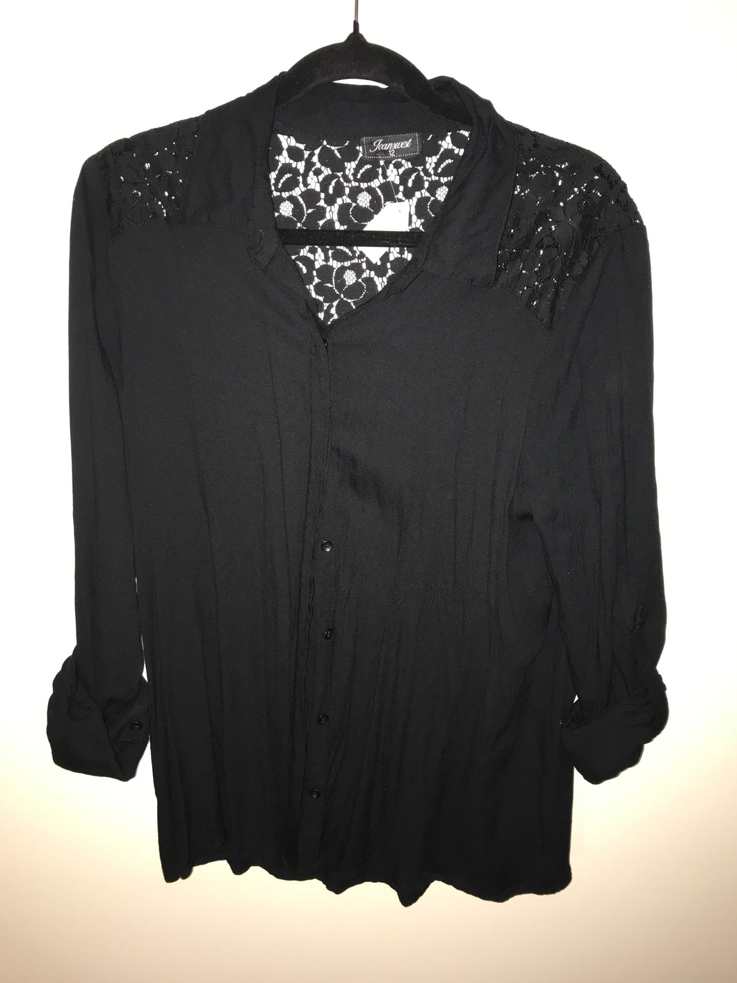 Jeanswest black lace blouse Size 12