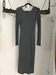 Kookai Navy/White Striped Long Dress Size 6